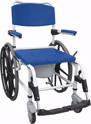 Picture of ALUMINUM REHAB SHOWER COMMODE CHAIR