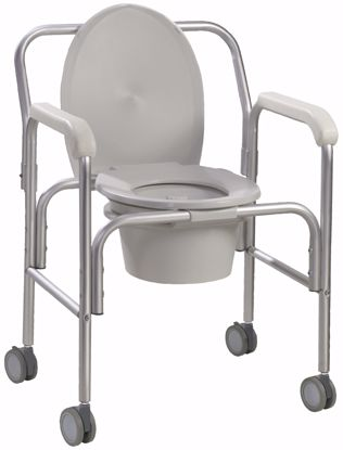 Picture of ALUMINUM COMMODE WITH WHEELS x  2 per case