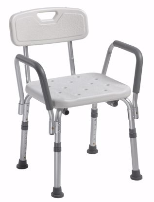 Picture of SHOWER CHAIR WITH BACK AND REMOVABLE PADDED ARMS