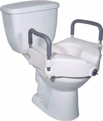 Picture of 2-IN-1 LOCKING RAISED TOILET SEAT WITH TOOL-FREE REMOVABLE ARMS
